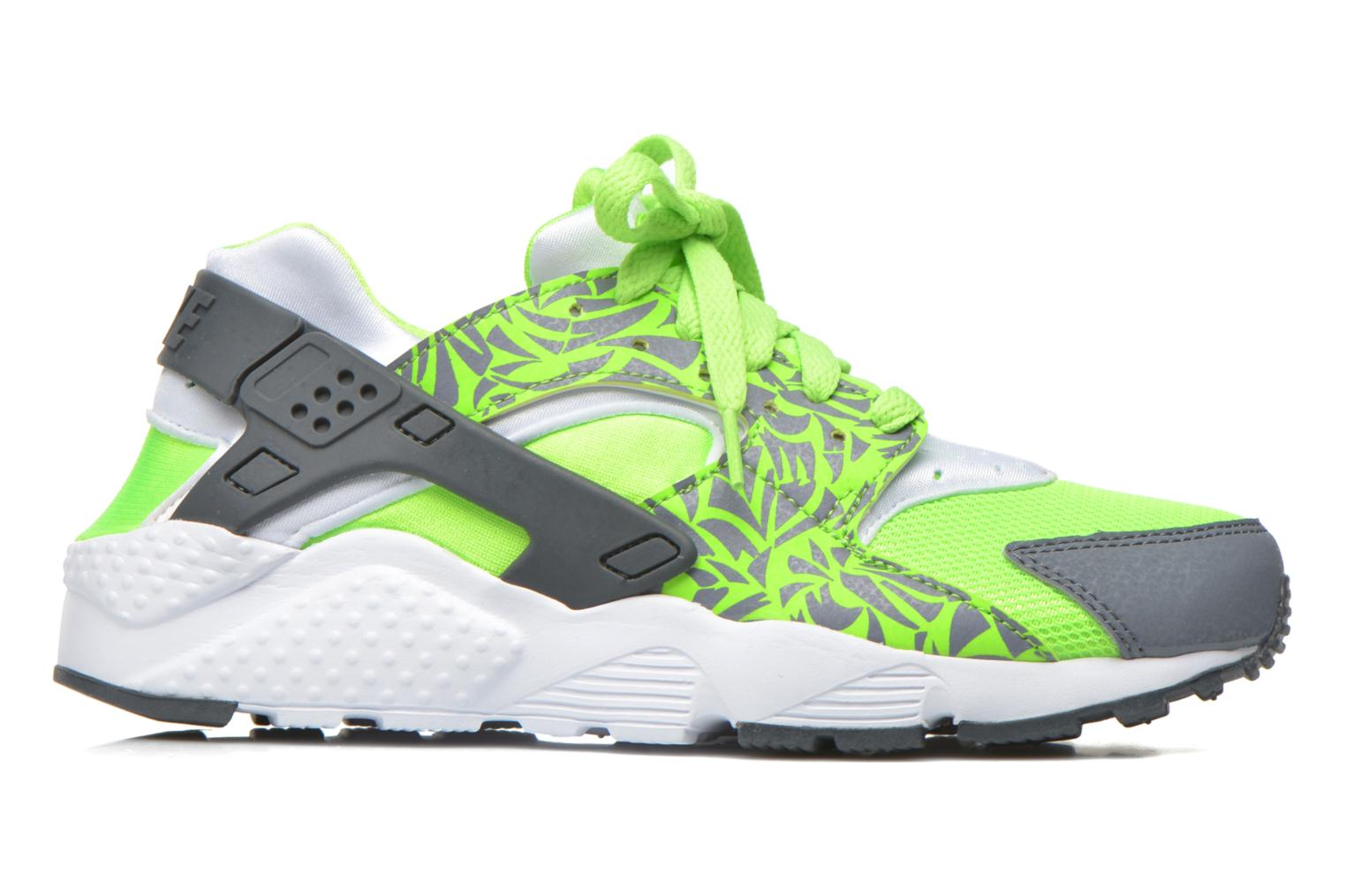 Nike Huarache Run Print (Gs) Electric Green Cool Grey-White
