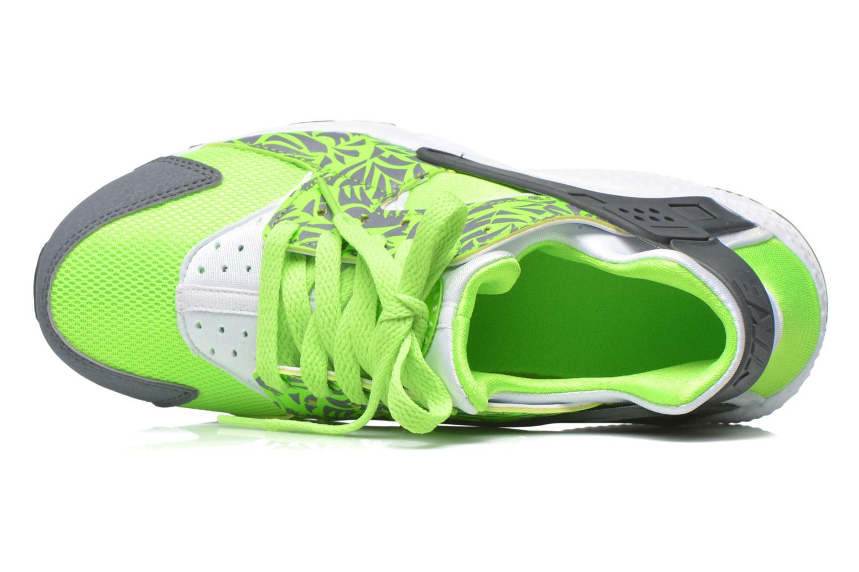 Trainers Nike Nike Huarache Run Print (Gs) Green view from the left