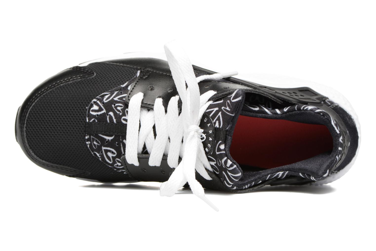 Trainers Nike Nike Huarache Run Print (Gs) Black view from the left
