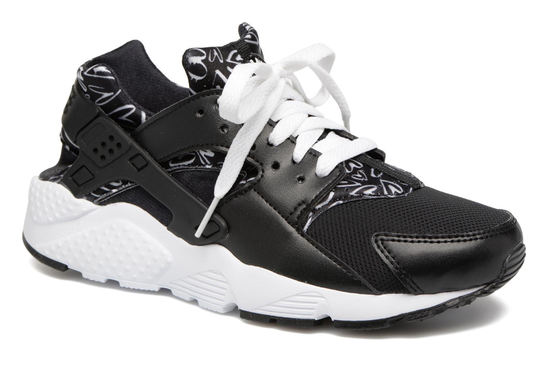 Trainers Nike Nike Huarache Run Print (Gs) Black detailed view/ Pair view