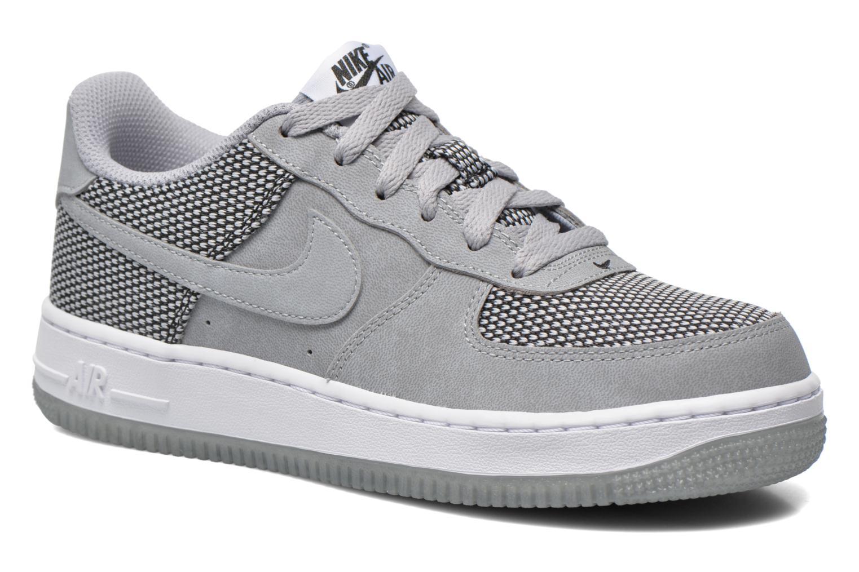 Baskets Nike Air Force 1 Premium (Gs) Gris vue détail/paire