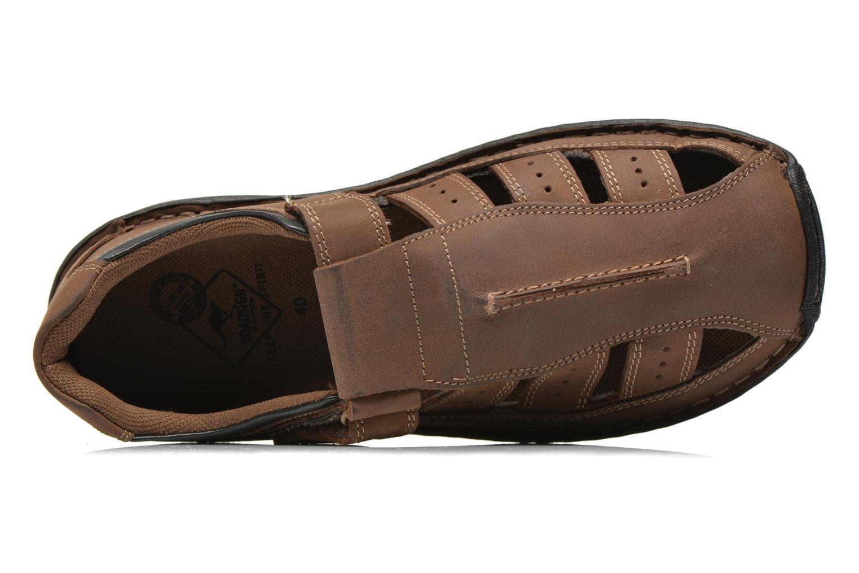 Sandali e scarpe aperte Roadsign Garry Marrone immagine sinistra