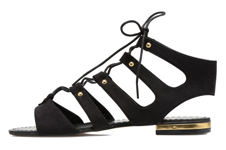 Sandales et nu-pieds Divine Factory Agathe Noir vue face