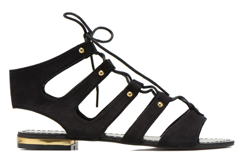 Sandales et nu-pieds Divine Factory Agathe Noir vue derrière