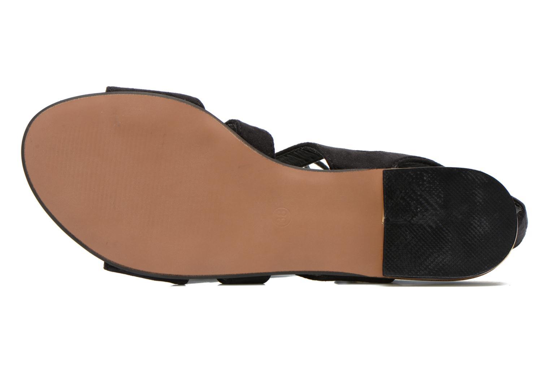 Sandales et nu-pieds Divine Factory Agathe Noir vue haut
