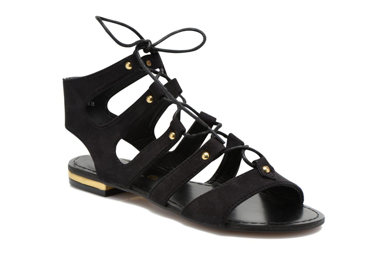 Sandales et nu-pieds Divine Factory Agathe Noir vue détail/paire