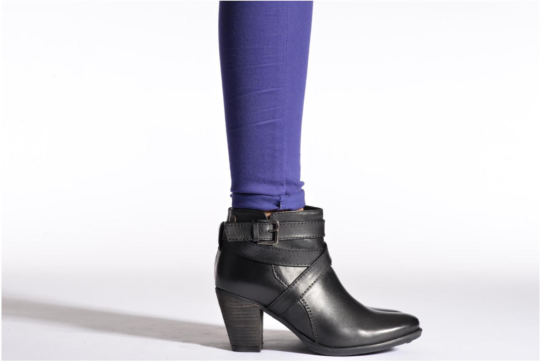Bottines et boots Initiale Paris Marble Noir vue bas / vue portée sac