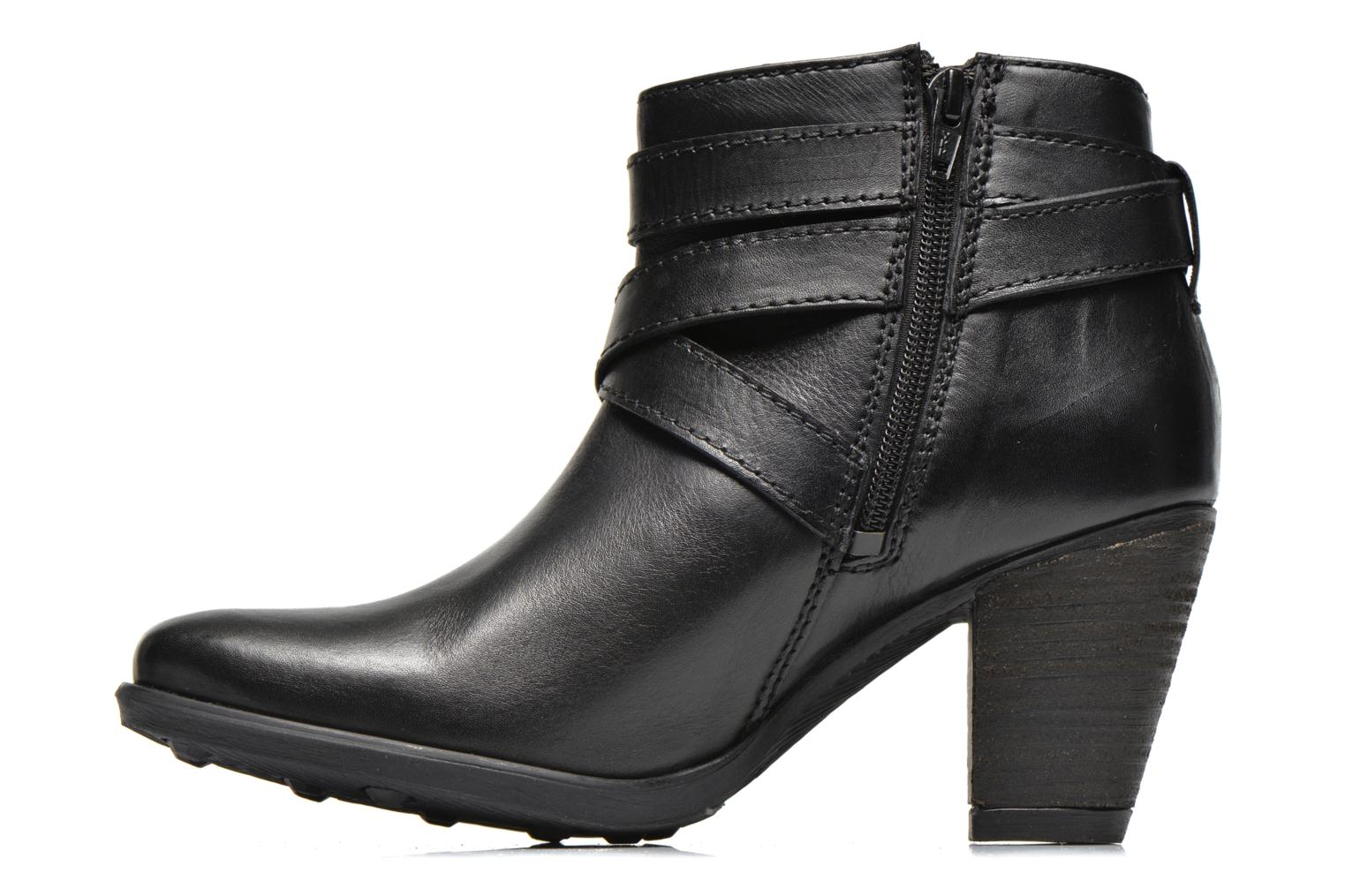 Ankle boots Initiale Paris Marble Black front view
