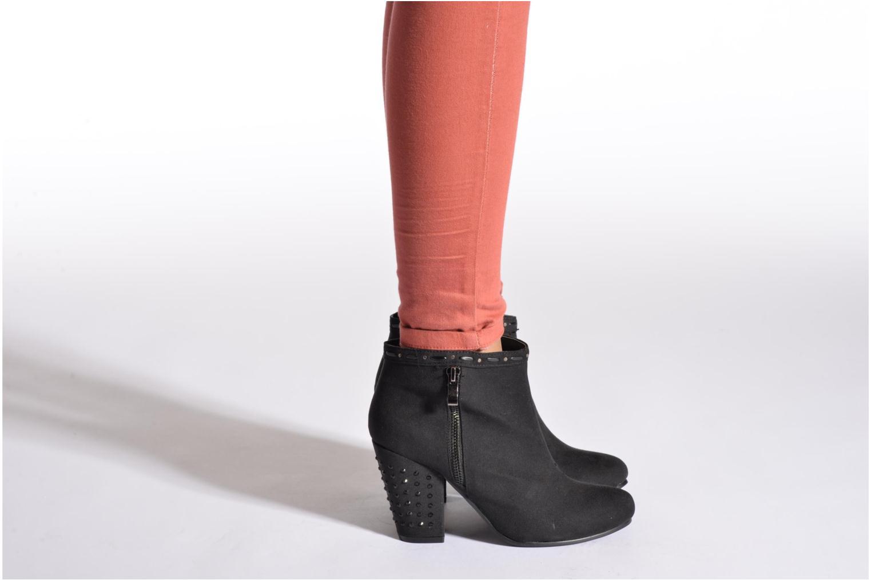 Bottines et boots Initiale Paris Pudding Noir vue bas / vue portée sac