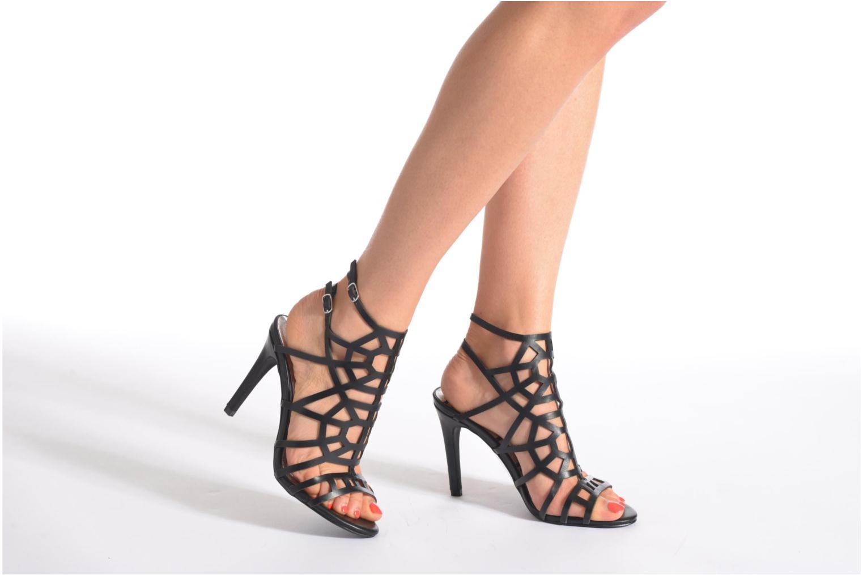 Sandales et nu-pieds Elle Maspero Noir vue bas / vue portée sac