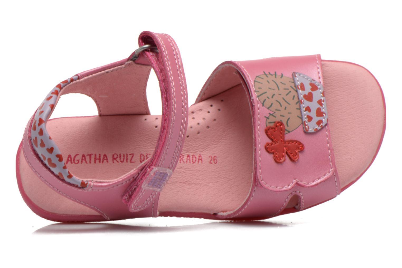 Sandals Agatha Ruiz de la Prada Jardino Pink view from the left