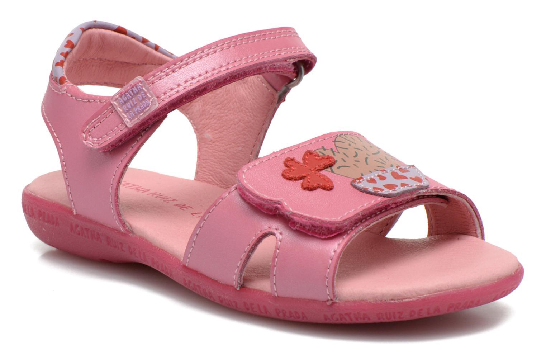 Sandalen Agatha Ruiz de la Prada Jardino rosa detaillierte ansicht/modell