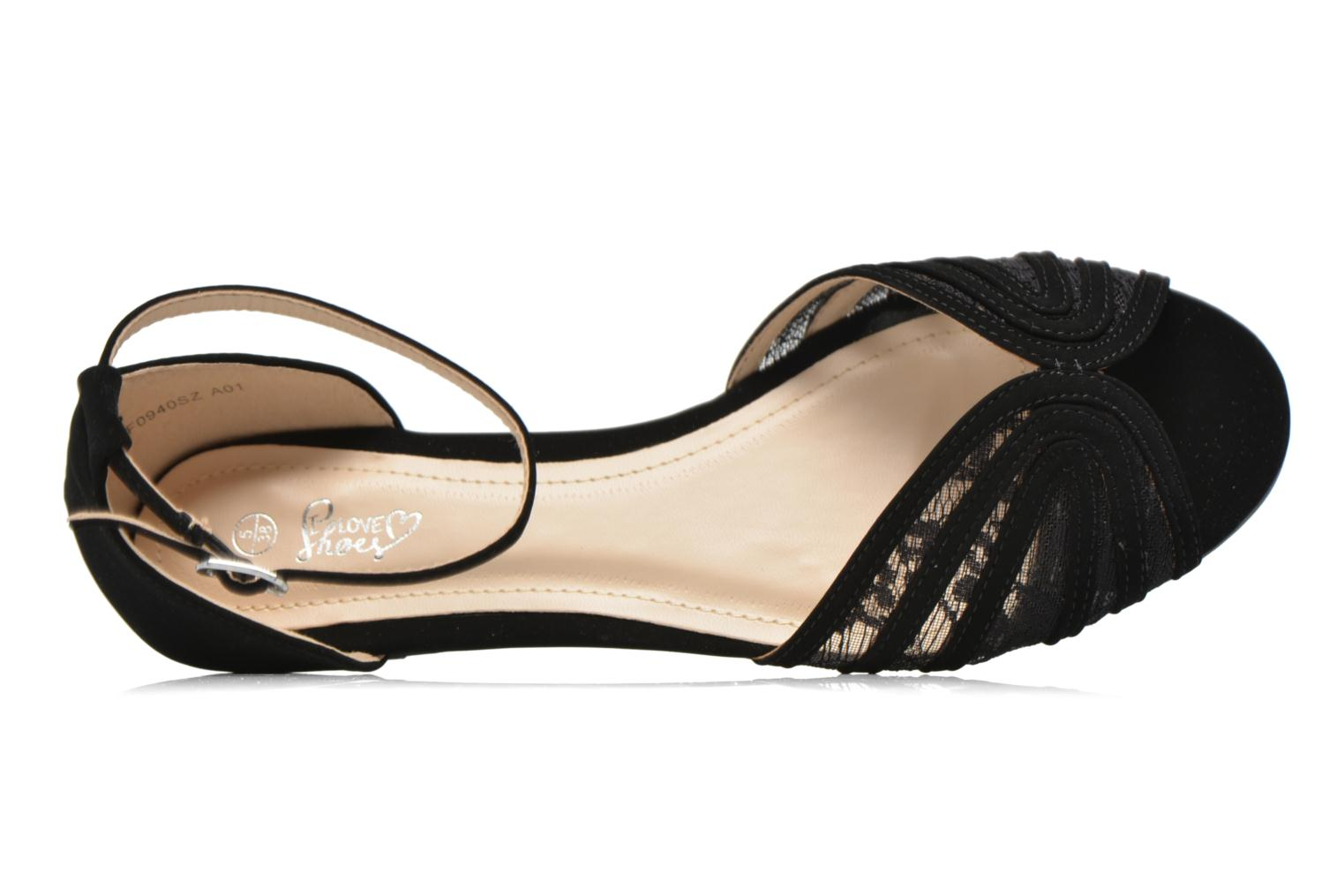 Sandalias I Love Shoes Kivipa Negro vista lateral izquierda