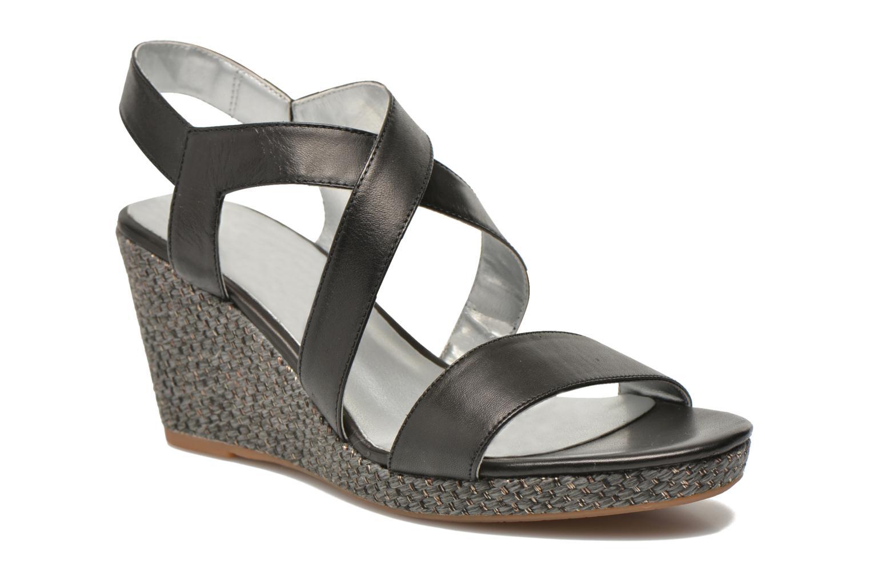Sandaler JB MARTIN Quetza Sort detaljeret billede af skoene