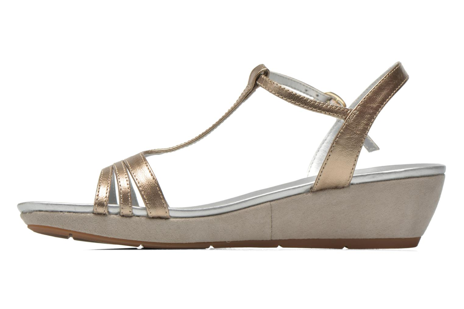 Sandals JB MARTIN Benji Bronze and Gold front view