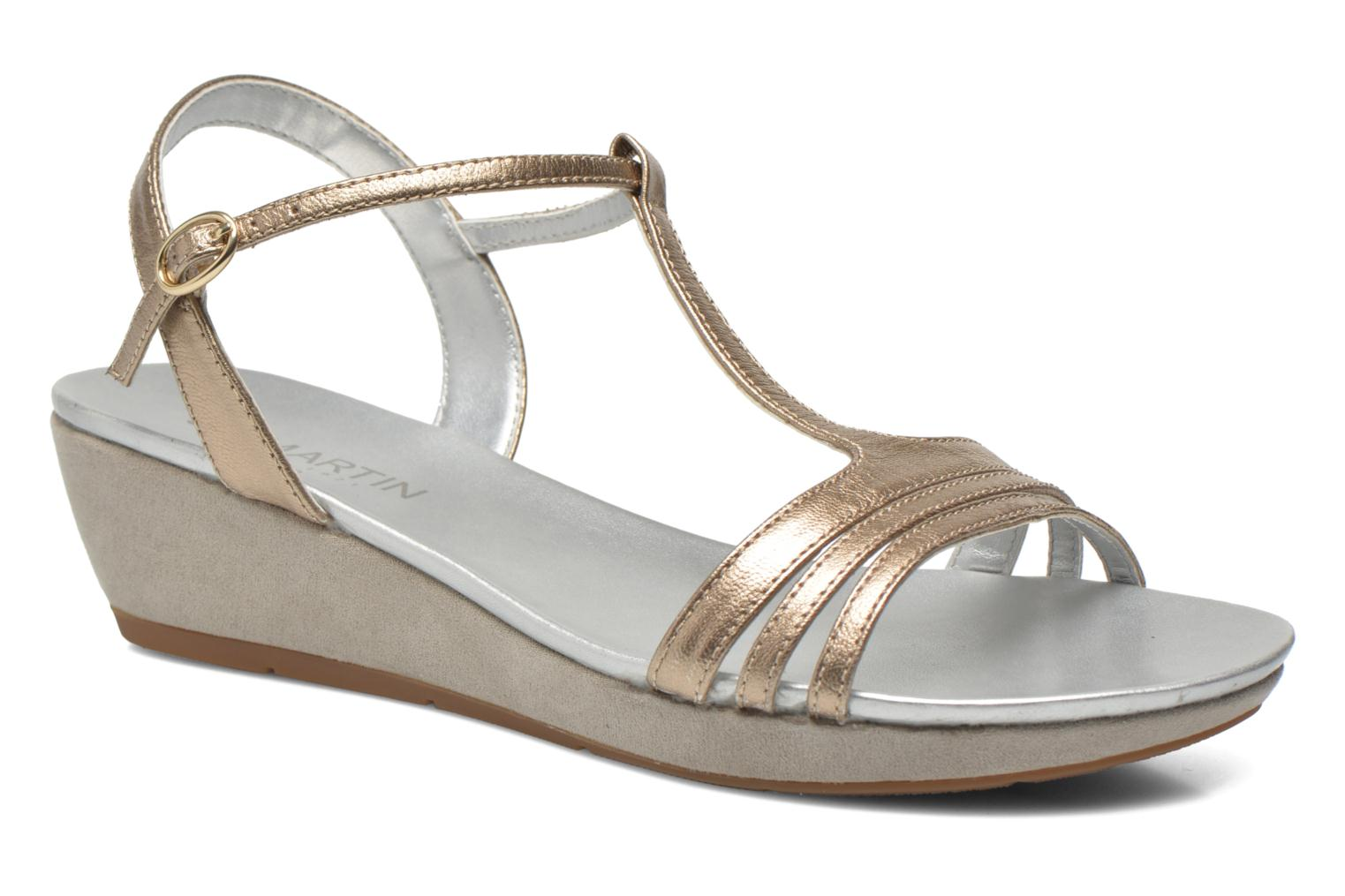 Sandals JB MARTIN Benji Bronze and Gold detailed view/ Pair view