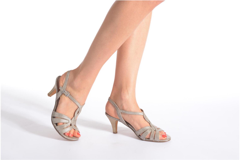 Sandales et nu-pieds Marco Tozzi Anafi Blanc vue bas / vue portée sac