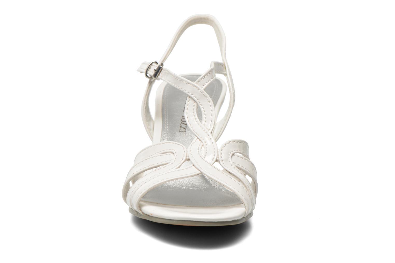 Sandales et nu-pieds Marco Tozzi Anafi Blanc vue portées chaussures