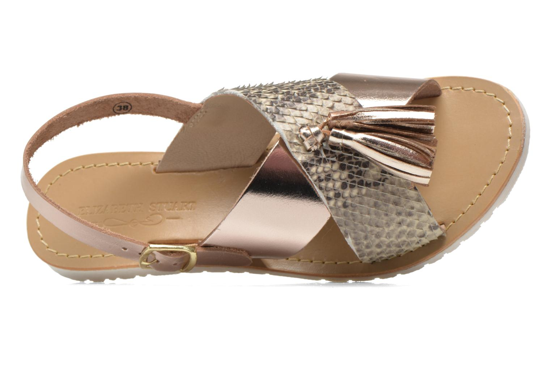 Sandales et nu-pieds Elizabeth Stuart Polka 882 Or et bronze vue gauche