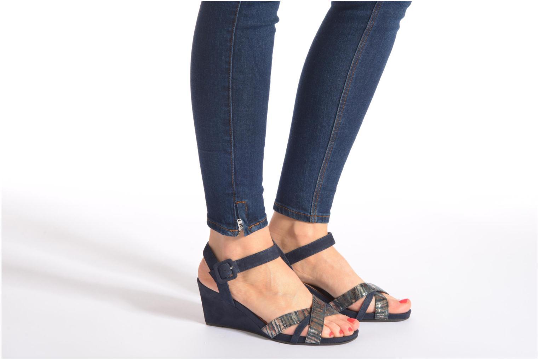Sandales et nu-pieds Tamaris Covuja Bleu vue bas / vue portée sac