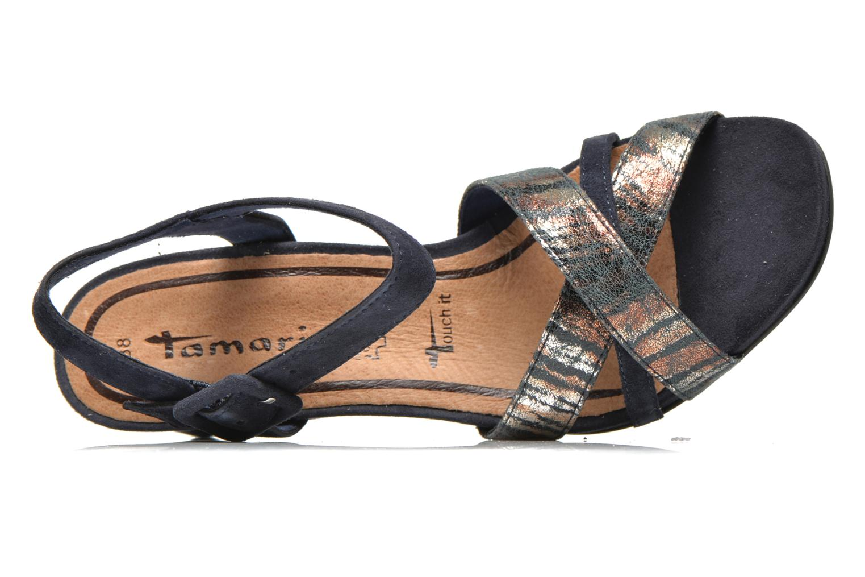 Sandales et nu-pieds Tamaris Covuja Bleu vue gauche