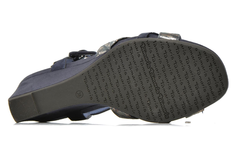 Sandales et nu-pieds Tamaris Covuja Bleu vue haut