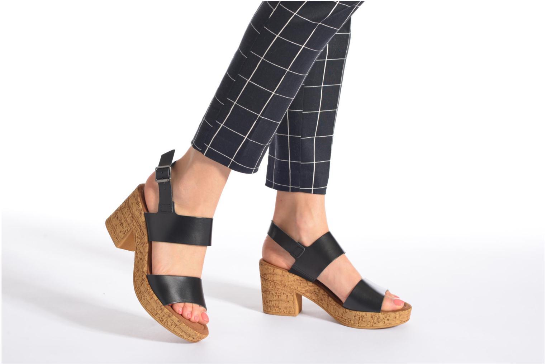 Sandales et nu-pieds Tamaris Bideca Noir vue bas / vue portée sac