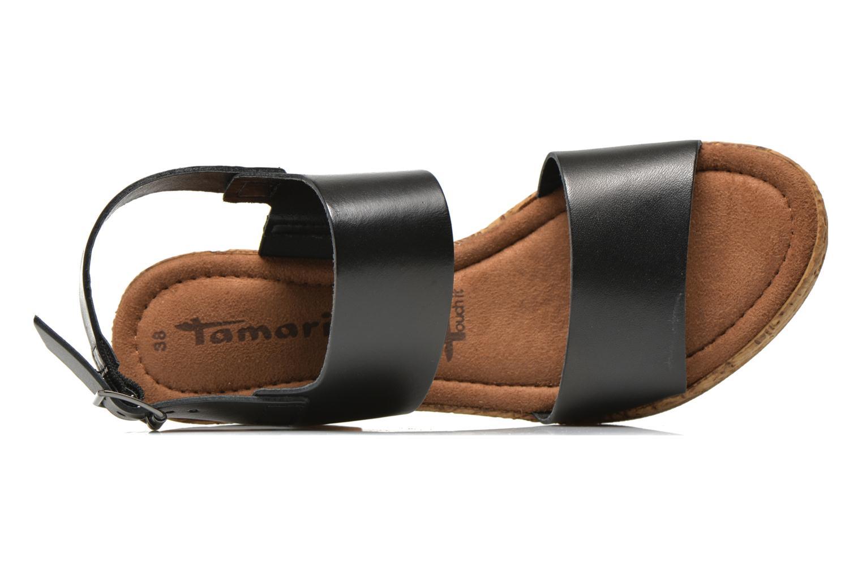 Sandales et nu-pieds Tamaris Bideca Noir vue gauche
