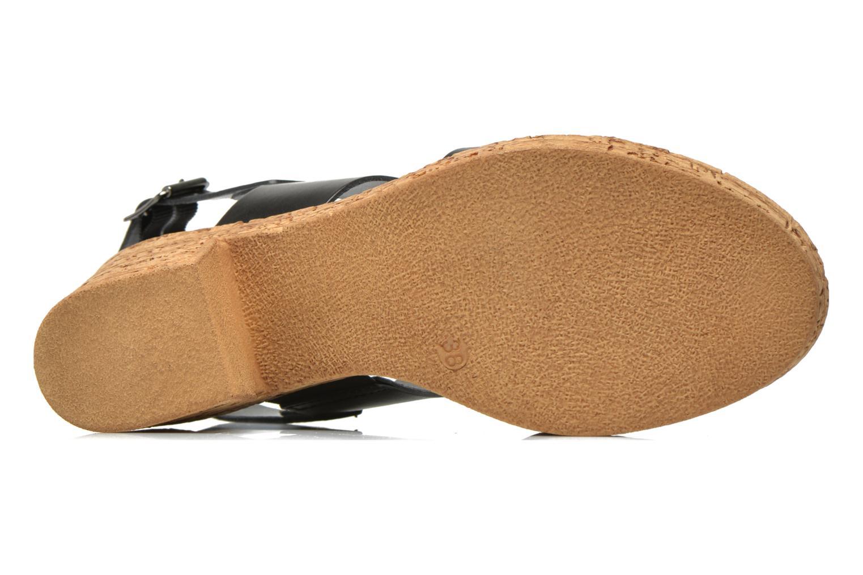 Sandales et nu-pieds Tamaris Bideca Noir vue haut