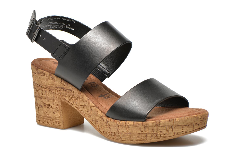 Sandales et nu-pieds Tamaris Bideca Noir vue détail/paire