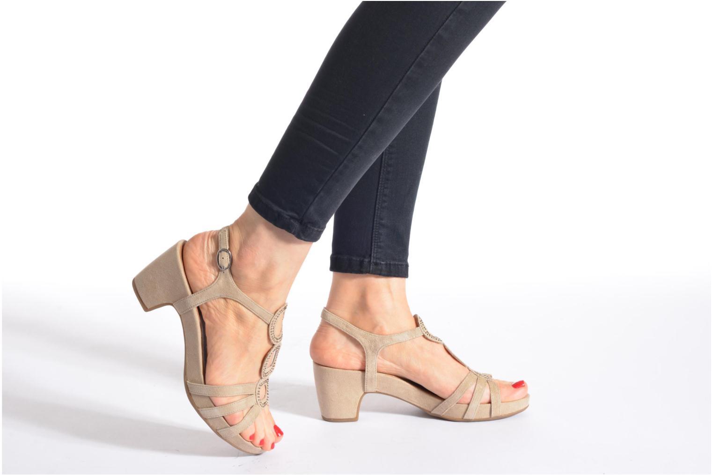 Sandales et nu-pieds Tamaris Forbina Beige vue bas / vue portée sac