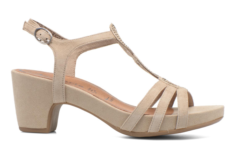 Sandales et nu-pieds Tamaris Forbina Beige vue derrière