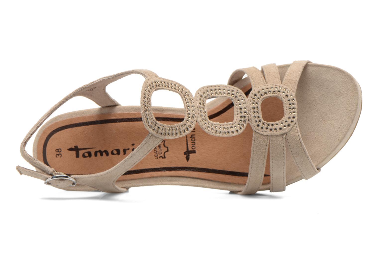 Sandales et nu-pieds Tamaris Forbina Beige vue gauche
