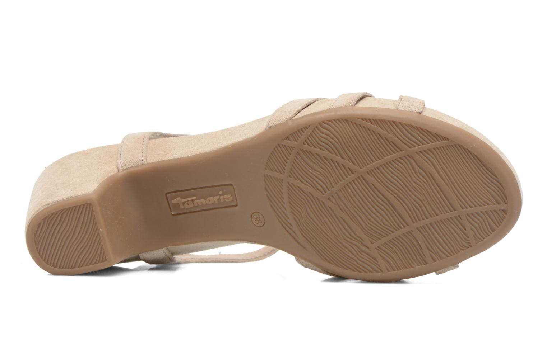 Sandales et nu-pieds Tamaris Forbina Beige vue haut