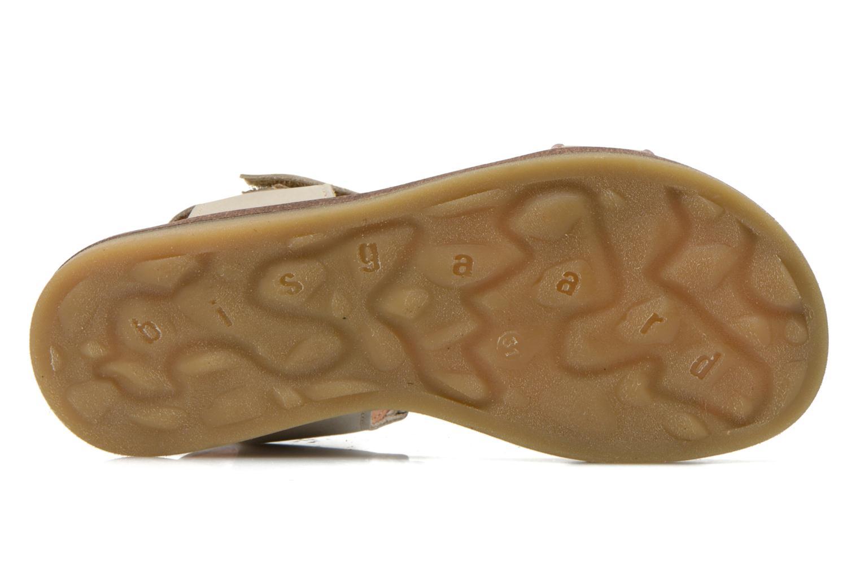 Sandales et nu-pieds Bisgaard Phoebe Beige vue haut