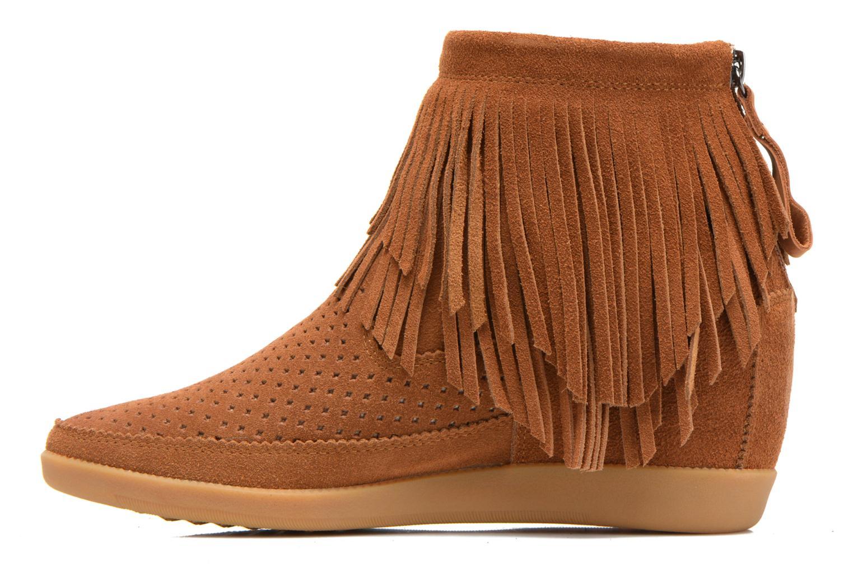 Bottines et boots Shoe the bear Emmy Fringes Marron vue face