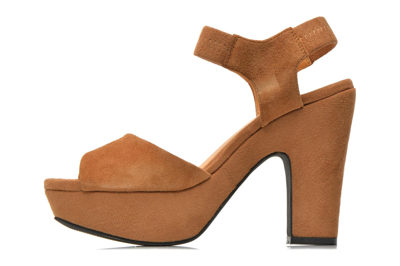 Sandales et nu-pieds Shoe the bear Sandy Marron vue face