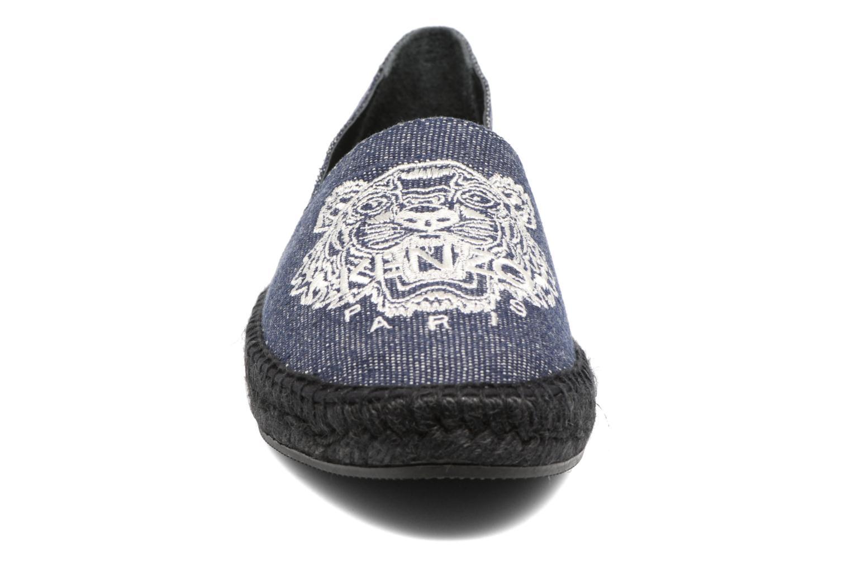 Espadrilles Kenzo Slit Bleu vue portées chaussures