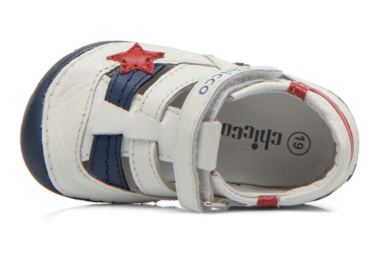 Chaussures à scratch Chicco Damiano Blanc vue gauche