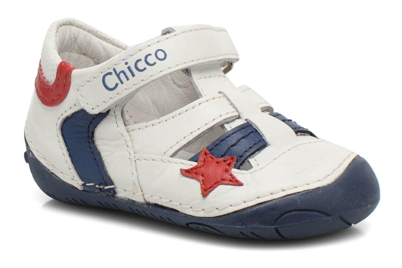 Chaussures à scratch Chicco Damiano Blanc vue détail/paire