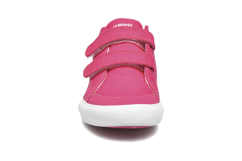 Sneakers Le Coq Sportif Saint Gaetan Inf Rosa modello indossato