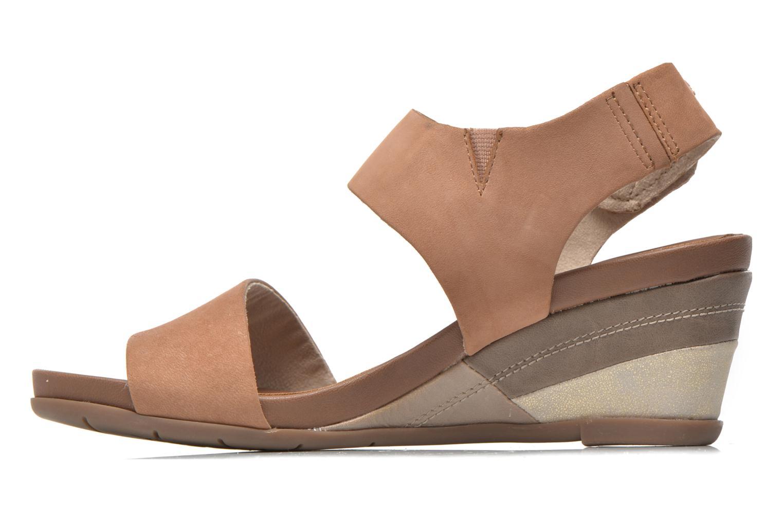 Sandales et nu-pieds Jana shoes Koga Marron vue face