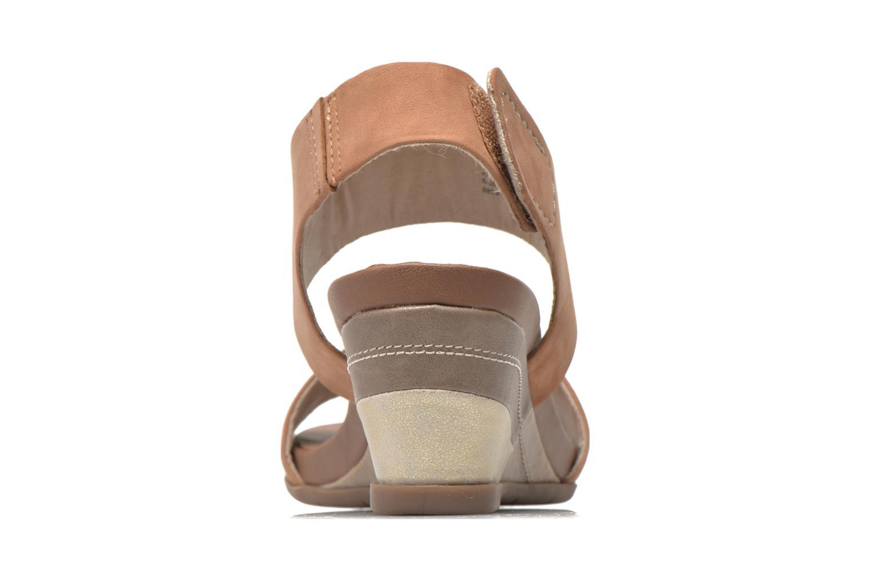 Sandales et nu-pieds Jana shoes Koga Marron vue droite