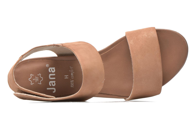 Sandales et nu-pieds Jana shoes Koga Marron vue gauche