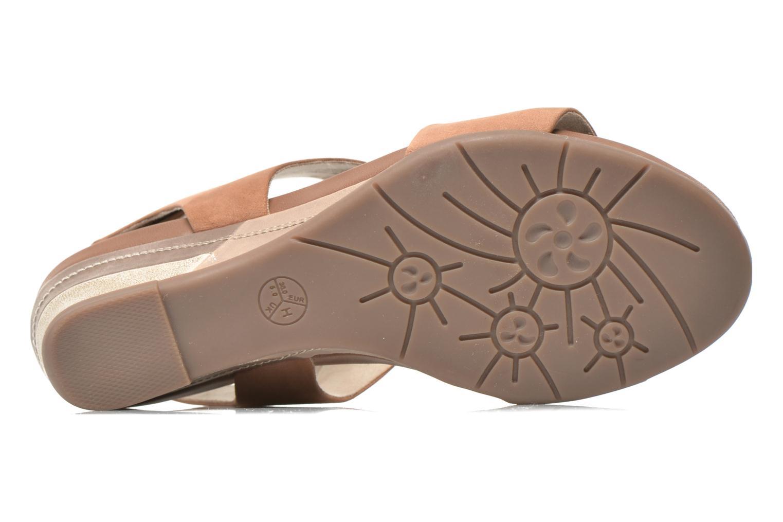 Sandales et nu-pieds Jana shoes Koga Marron vue haut