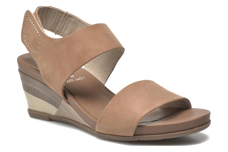 Sandales et nu-pieds Jana shoes Koga Marron vue détail/paire
