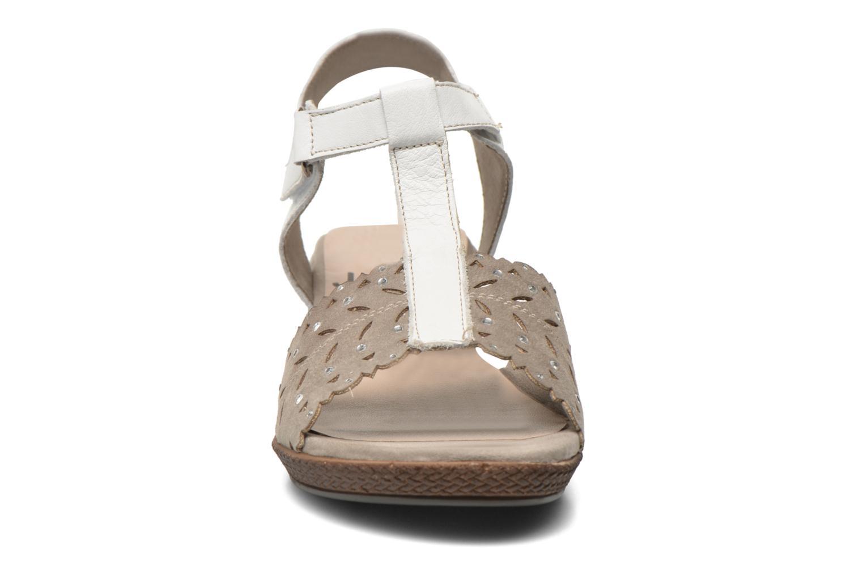 Sandalias Jana shoes Linka Gris vista del modelo