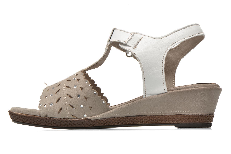 Sandales et nu-pieds Jana shoes Linka Gris vue face