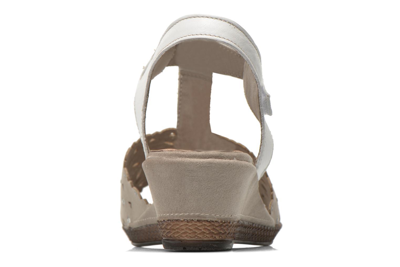 Sandalias Jana shoes Linka Gris vista lateral derecha