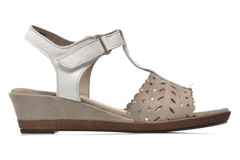 Sandales et nu-pieds Jana shoes Linka Gris vue derrière